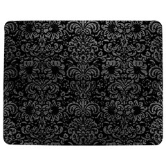 Damask2 Black Marble & Gray Leather Jigsaw Puzzle Photo Stand (rectangular) by trendistuff