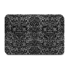 Damask2 Black Marble & Gray Leather (r) Plate Mats by trendistuff