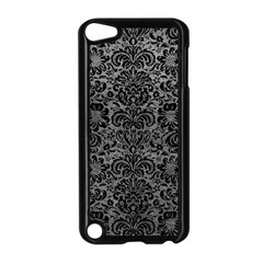 Damask2 Black Marble & Gray Leather (r) Apple Ipod Touch 5 Case (black) by trendistuff