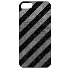 Stripes3 Black Marble & Gray Leather Apple Iphone 5 Classic Hardshell Case by trendistuff