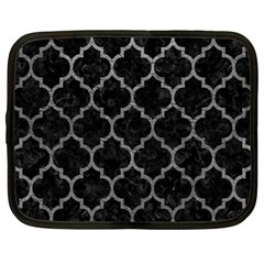 Tile1 Black Marble & Gray Leathertile1 Black Marble & Gray Leather Netbook Case (xl)  by trendistuff