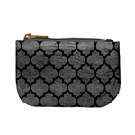 TILE1 BLACK MARBLE & GRAY LEATHER (R) Mini Coin Purses Front