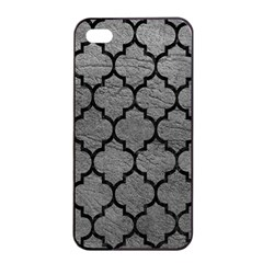 Tile1 Black Marble & Gray Leather (r) Apple Iphone 4/4s Seamless Case (black)
