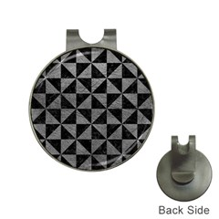 Triangle1 Black Marble & Gray Leather Hat Clips With Golf Markers by trendistuff