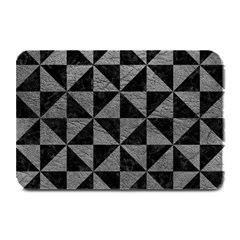 Triangle1 Black Marble & Gray Leather Plate Mats by trendistuff