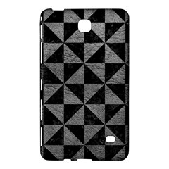 Triangle1 Black Marble & Gray Leather Samsung Galaxy Tab 4 (7 ) Hardshell Case  by trendistuff