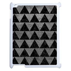 Triangle2 Black Marble & Gray Leather Apple Ipad 2 Case (white) by trendistuff