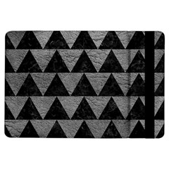 Triangle2 Black Marble & Gray Leather Ipad Air Flip by trendistuff