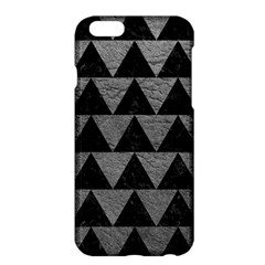 Triangle2 Black Marble & Gray Leather Apple Iphone 6 Plus/6s Plus Hardshell Case by trendistuff
