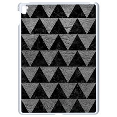 Triangle2 Black Marble & Gray Leather Apple Ipad Pro 9 7   White Seamless Case by trendistuff
