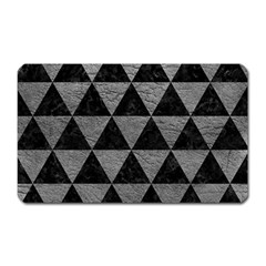 Triangle3 Black Marble & Gray Leather Magnet (rectangular) by trendistuff