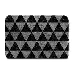 Triangle3 Black Marble & Gray Leather Plate Mats by trendistuff