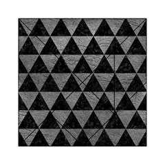 Triangle3 Black Marble & Gray Leather Acrylic Tangram Puzzle (6  X 6 ) by trendistuff