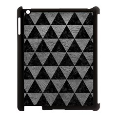 Triangle3 Black Marble & Gray Leather Apple Ipad 3/4 Case (black) by trendistuff