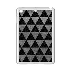 Triangle3 Black Marble & Gray Leather Ipad Mini 2 Enamel Coated Cases by trendistuff