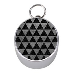 Triangle3 Black Marble & Gray Leather Mini Silver Compasses by trendistuff