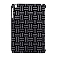 Woven1 Black Marble & Gray Leather Apple Ipad Mini Hardshell Case (compatible With Smart Cover) by trendistuff