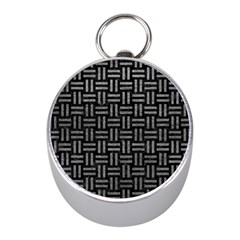 Woven1 Black Marble & Gray Leather Mini Silver Compasses by trendistuff