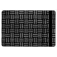Woven1 Black Marble & Gray Leather Ipad Air Flip by trendistuff