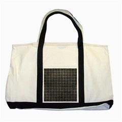 Woven1 Black Marble & Gray Leather (r) Two Tone Tote Bag by trendistuff