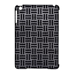 Woven1 Black Marble & Gray Leather (r) Apple Ipad Mini Hardshell Case (compatible With Smart Cover) by trendistuff