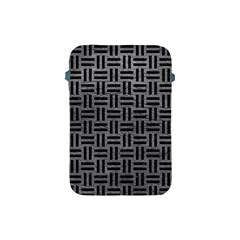 Woven1 Black Marble & Gray Leather (r) Apple Ipad Mini Protective Soft Cases by trendistuff