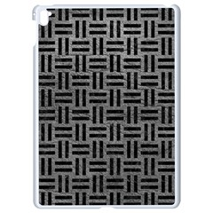 Woven1 Black Marble & Gray Leather (r) Apple Ipad Pro 9 7   White Seamless Case by trendistuff