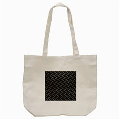 Woven2 Black Marble & Gray Leather Tote Bag (cream) by trendistuff