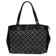Woven2 Black Marble & Gray Leather Office Handbags (2 Sides)