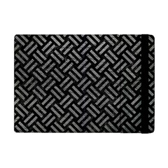 Woven2 Black Marble & Gray Leather Apple Ipad Mini Flip Case by trendistuff