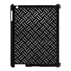 Woven2 Black Marble & Gray Leather Apple Ipad 3/4 Case (black) by trendistuff