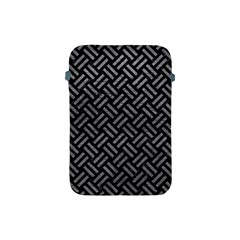 Woven2 Black Marble & Gray Leather Apple Ipad Mini Protective Soft Cases by trendistuff