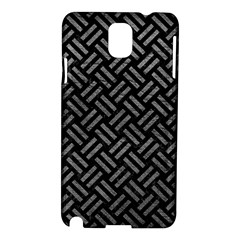 Woven2 Black Marble & Gray Leather Samsung Galaxy Note 3 N9005 Hardshell Case by trendistuff
