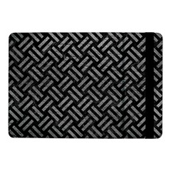 Woven2 Black Marble & Gray Leather Samsung Galaxy Tab Pro 10 1  Flip Case by trendistuff