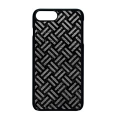 Woven2 Black Marble & Gray Leather Apple Iphone 7 Plus Seamless Case (black)