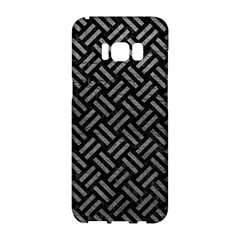 Woven2 Black Marble & Gray Leather Samsung Galaxy S8 Hardshell Case  by trendistuff