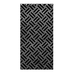 Woven2 Black Marble & Gray Leather (r) Shower Curtain 36  X 72  (stall)  by trendistuff
