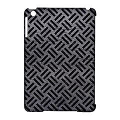 Woven2 Black Marble & Gray Leather (r) Apple Ipad Mini Hardshell Case (compatible With Smart Cover) by trendistuff