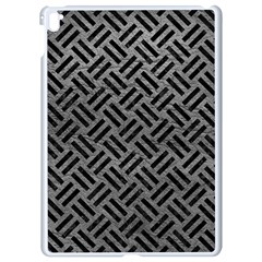 Woven2 Black Marble & Gray Leather (r) Apple Ipad Pro 9 7   White Seamless Case by trendistuff