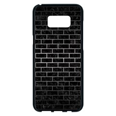 Brick1 Black Marble & Gray Metal 1 Samsung Galaxy S8 Plus Black Seamless Case by trendistuff