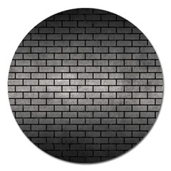 Brick1 Black Marble & Gray Metal 1 (r) Magnet 5  (round) by trendistuff