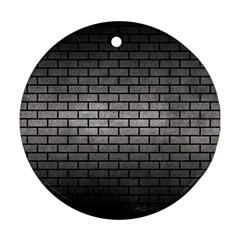Brick1 Black Marble & Gray Metal 1 (r) Round Ornament (two Sides) by trendistuff