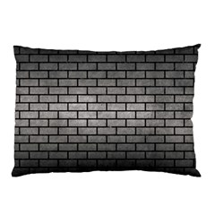 Brick1 Black Marble & Gray Metal 1 (r) Pillow Case by trendistuff