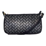 BRICK2 BLACK MARBLE & GRAY METAL 1 (R) Shoulder Clutch Bags Front