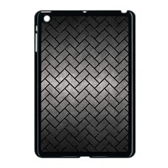 Brick2 Black Marble & Gray Metal 1 (r) Apple Ipad Mini Case (black) by trendistuff