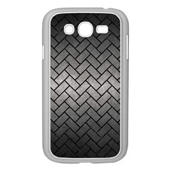 Brick2 Black Marble & Gray Metal 1 (r) Samsung Galaxy Grand Duos I9082 Case (white) by trendistuff