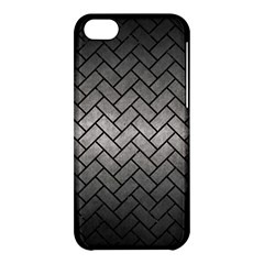 Brick2 Black Marble & Gray Metal 1 (r) Apple Iphone 5c Hardshell Case by trendistuff