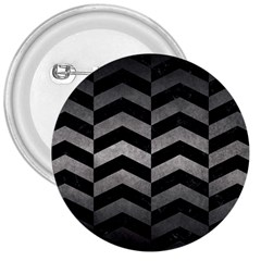 Chevron2 Black Marble & Gray Metal 1 3  Buttons by trendistuff