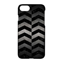 Chevron2 Black Marble & Gray Metal 1 Apple Iphone 7 Hardshell Case