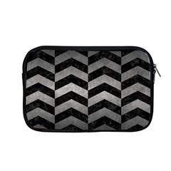 Chevron2 Black Marble & Gray Metal 1 Apple Macbook Pro 13  Zipper Case by trendistuff